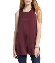 women's nic+zoe central sleeveless top, size x-small - burgundy