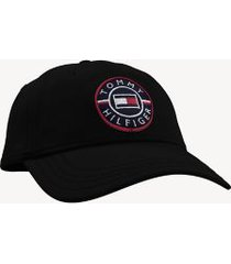 tommy hilfiger men's logo cap deep black -