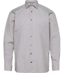 contemporary fit medallion print shirt overhemd business blauw eton