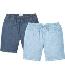 bermuda con elastico in vita classic fit in confezione  da 2 (blu) - john baner jeanswear