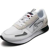 tenis blanco-gris tommy hilfiger