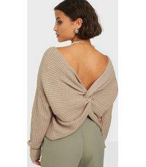 pieces pcsuna ls drape back knit bc tröjor
