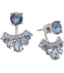 givenchy crystal & pave front & back earrings