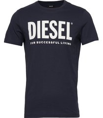 t-diego-logo t-shirt t-shirts short-sleeved blå diesel men