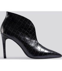mango pico ankle boots - black