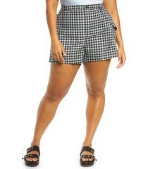 plus size women's bp. plaid cargo shorts, size 4x - black