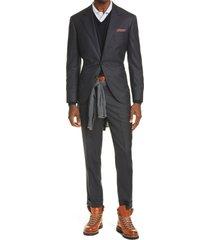 men's brunello cucinelli micro houndstooth wool suit