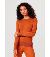 blusão hering tricô elastano botões metalizados feminino - feminino