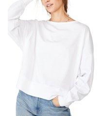 cotton on oversize drop shoulder long sleeve top