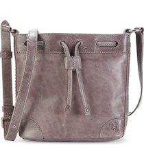 frye women's melissa leather drawstring bucket bag - amethyst