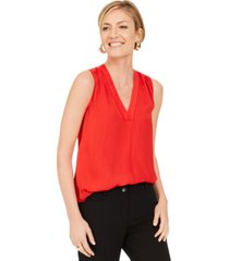 alfani satin v-neck tank top, created for macy's