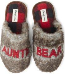 women's furry auntie or big sis bear scuff