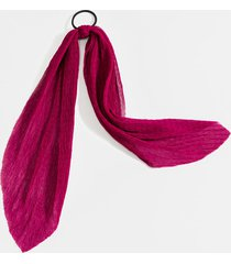 women's blaire crinkle chiffon pony scarf in burgundy by francesca's - size: one size