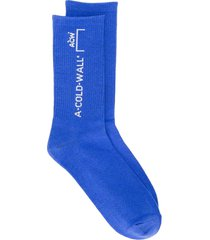 a-cold-wall* logo knit socks - blue