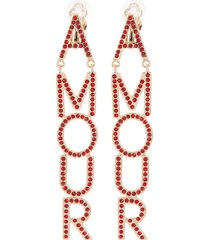 'amour' crystal earrings