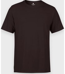męska koszulka (bez nadruku, gładka) - brązowa