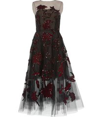 tulle ruby embroidered dress