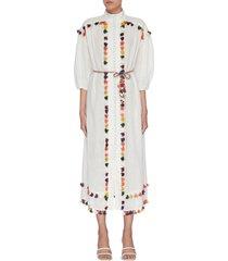 'edie' tassel trim mock neck dress