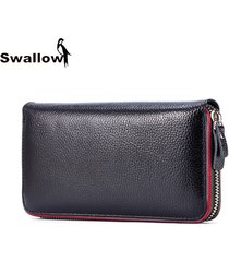 fashion genuine leather women purse zipper long cow leather women wallet designe