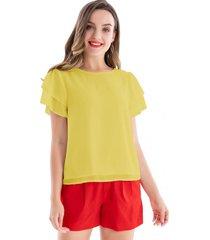 blusa básica vuelos amarillo nicopoly