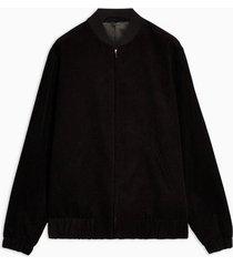 mens black corduroy smart bomber jacket