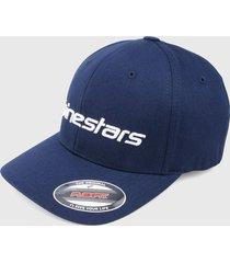 gorra azul-blanco alpinestars