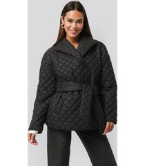 na-kd trend quilted short jacket - black