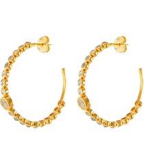 'chamber' rose cut diamond labradorite 18k gold vermeil loop earrings