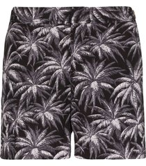 orlebar brown x setter palm-print swim shorts - black