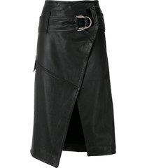 andrea bogosian leather relíquia skirt - black
