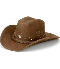 chapéu fourcountry americano couro tabaco  trançado bege - kanui