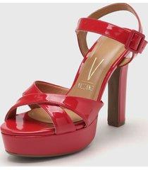 sandalia roja vizzano