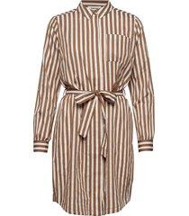 barbette dress korte jurk bruin modström