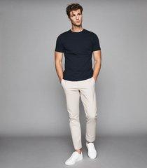 reiss bless - crew neck t-shirt in navy, mens, size xxl