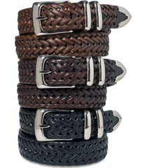 perry ellis portfolio men's leather big and tall braided belt