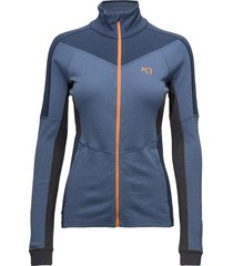 voss f/z fleece sweat-shirts & hoodies mid layer jackets blauw kari traa