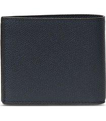 leather bifold wallet - dark blue