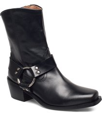 hazel leather black shoes boots ankle boots ankle boot - heel svart henry kole