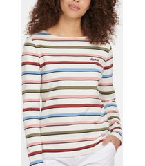 barbour hawkins cotton striped long-sleeve top