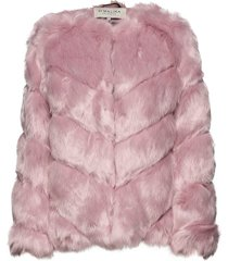 oria faux fur jacket outerwear faux fur rosa by malina