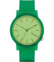 reloj analogo  mono jungle verde komono