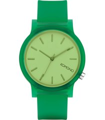reloj analogo  mono jungle verde komono