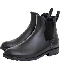 botas de lluvia corta chelsea bottplie - negro matte