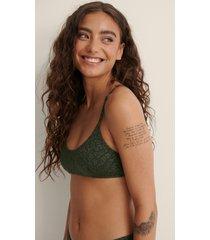 na-kd swimwear bikini-bh med rent snitt - green
