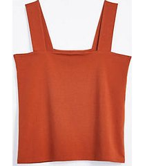 loft fitted square neck outfit-making tank