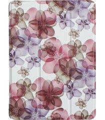 huawei mediapad m3 lite 10 colorido pintado flor patron funda de cuero flip con tres deformación horizontal plegable titular y sleep / wake up