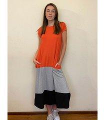 vestido naranja oma nativa