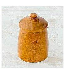 cedar wood jar, 'delicious possibilities' (guatemala)