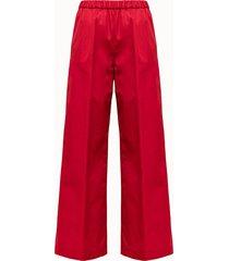 aspesi pantalone in cotone rosso
