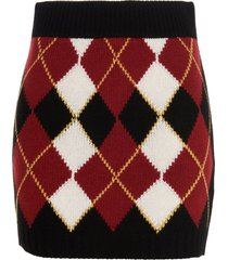 red valentino argyll skirt